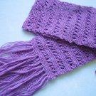 Hand-knitted beautiful purple long scarf