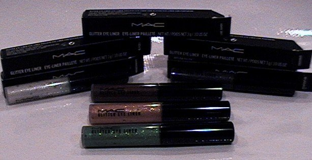 10 MAC GLITTER EYE LINER ASSORTMENT