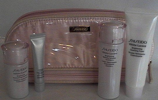 SHISEIDO LUCENT WHITE TRAVEL SKINCARE BAGS