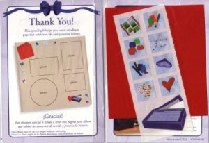"""Creative Memories """"Thanks To You"""" Scrapbooking Page Kit"""