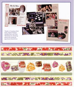 """Creative Memories """"Thanks To You"""" Presents & Flowers Page Kit"""