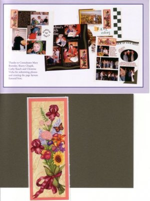 """Creative Memories """"Thanks To You""""  Flower Bouquet Page Kit"""