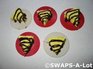 Mini Sponge Cake Chocolate Drizzle Brazil Thinking Day SWAPS Kit for Girl Kids Scout makes 25