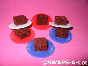 Mini Plate of Brownies SWAPS Kit for Girl Kids Scout makes 25