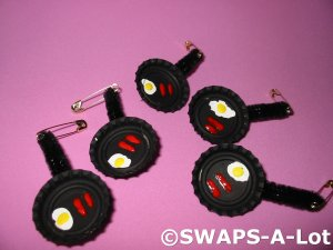 Mini Sausage~Eggs/Fry Pan SWAPS Kit for Girl Kids Scout  makes 25