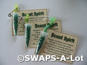 Mini Scout Spirit in a Bottle SWAPS Kit for Girl Kids Scout makes 25