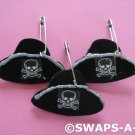 Mini Black Skull Pirate Hat SWAPS Kit for Girl Kids Scout makes 25