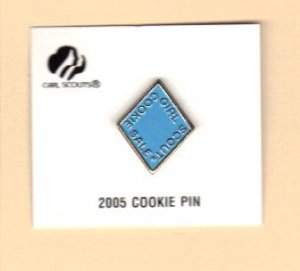 Girl Scout Cookie Activity Sale- Girl Cookies Pin- Light Blue 2005