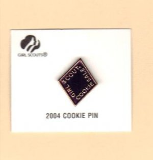 Girl Scout Cookie Activity Sale- Girl Cookies Pin- Purple 2004