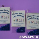 Mini Sister Scout Love Potion Dust SWAPS Kit for Girl Kids Scout makes 25