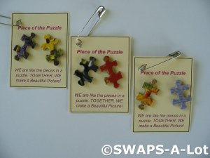 Mini Piece of the Puzzle SWAPS Kit for Girl Kids Scout makes 25