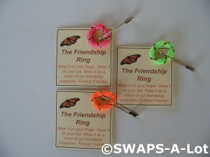 Mini Friendship Finger/Toe Ring SWAPS Kit  for Girl Kids Scout makes 25