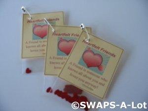Mini Heartfelt Friends SWAPS Kit  for Girl Kids Scout makes 25