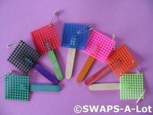 Mini Bright FLY SWATTER SWAPS Kit for Girl Kids Scout makes 25