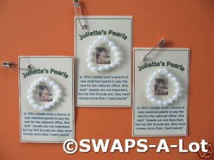 Mini Juliette&#039;s Pearls Juliette Low SWAPS Kit Girl Kids Scout makes 25