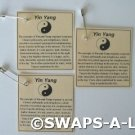 Mini Laminated Yin Yang Facts China SWAPS Kit Girl Kids Scout makes 25