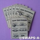 Mini Laminated Knots Quick Reference SWAPS Kit Girl Kids Scout makes 25