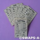 Mini Laminated Trail Signs Reference SWAPS Kit Girl Kids Scout makes 25