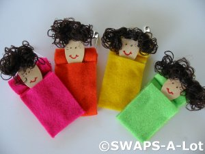 Mini Bed Head in Sleeping Bag SWAPS Kit for Girl Kids Scout makes 25