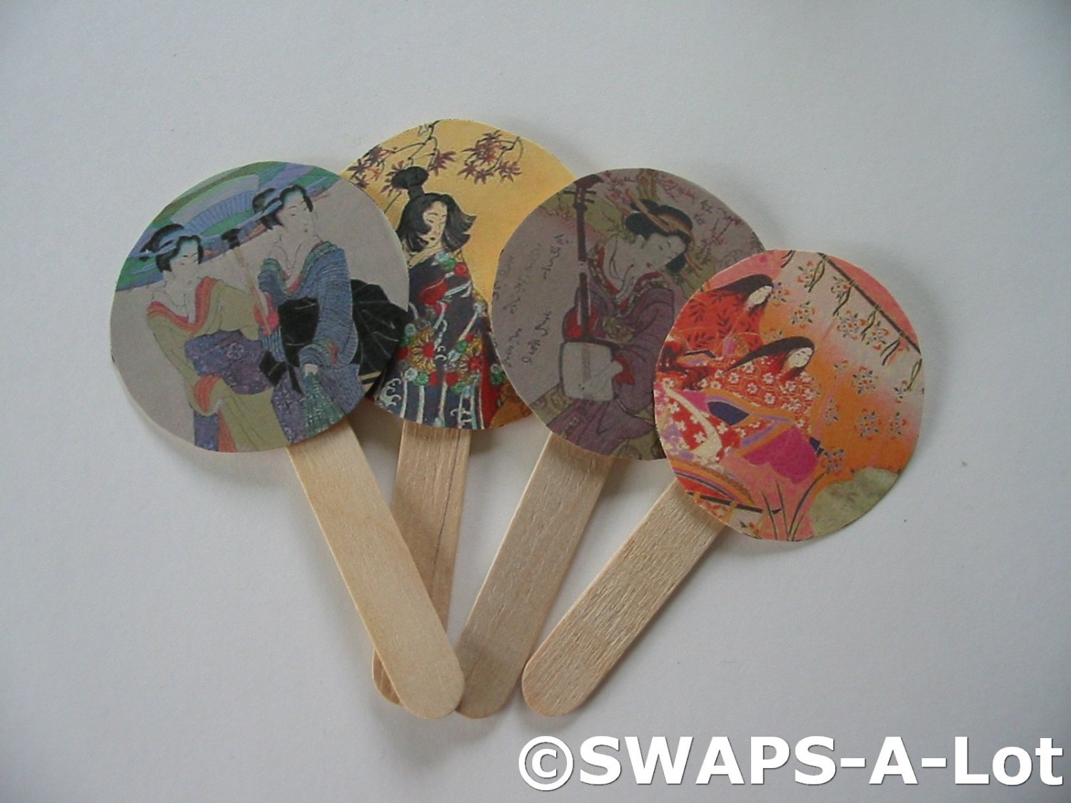 Mini Japanese Hand Fan Japan Thinking Day SWAPS Kit for Girl Kids Scout makes 25