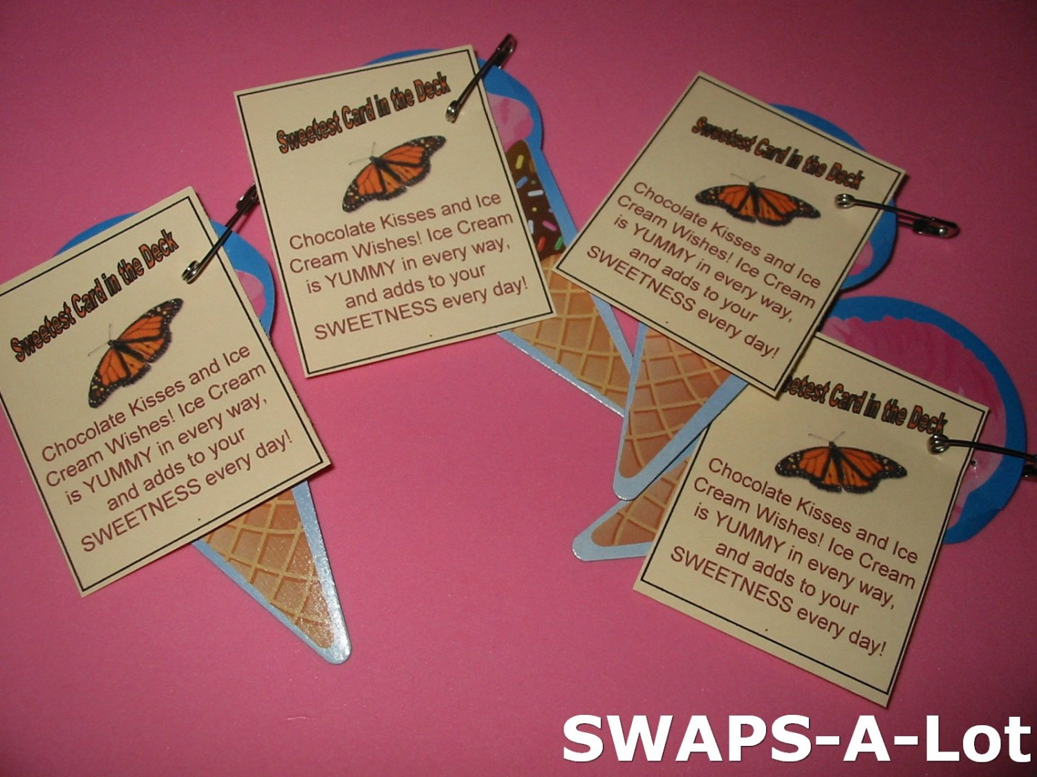 Mini Sweetest Card in the Deck SWAPS Kit for Girl Kids Scout makes 25