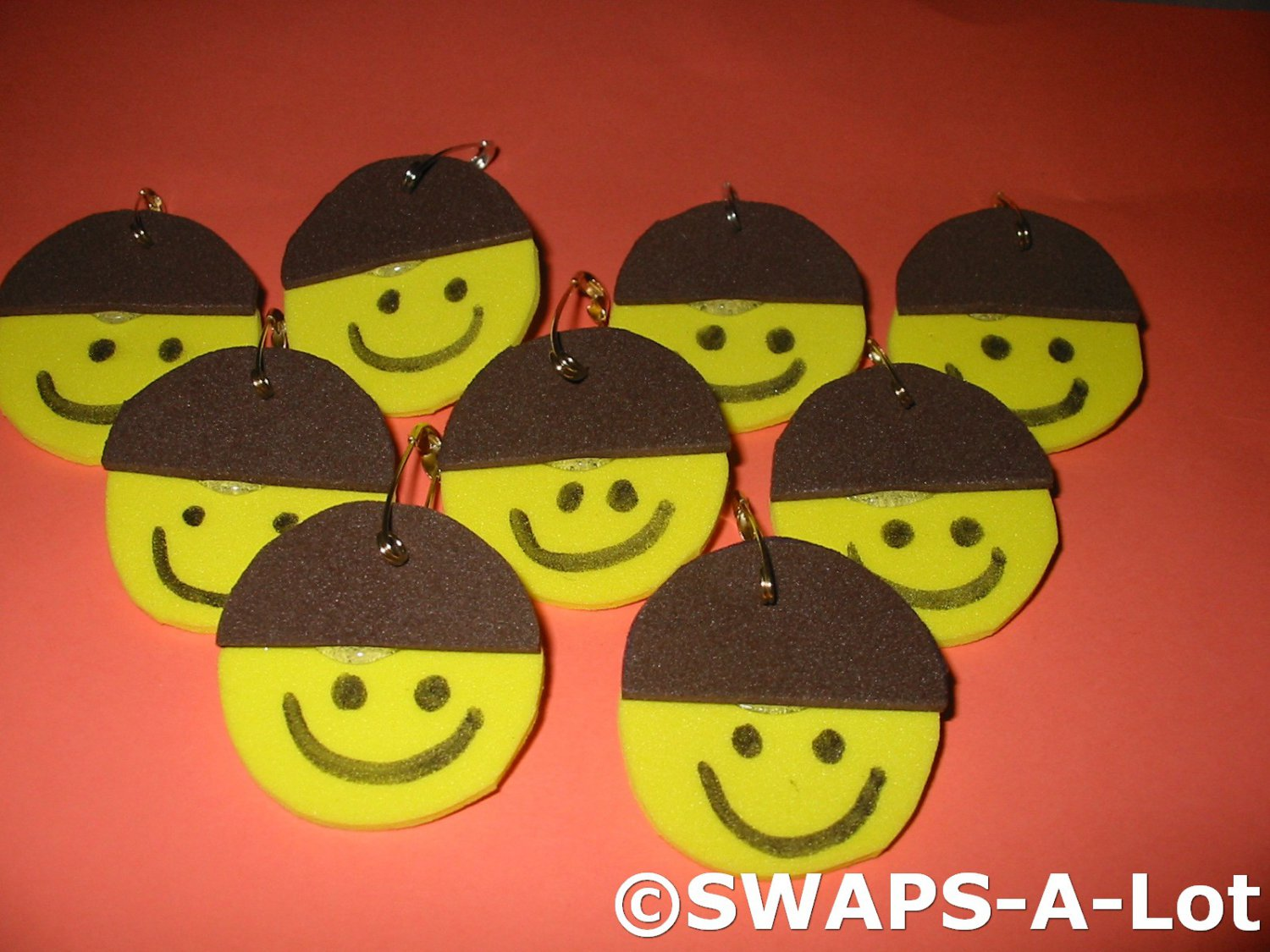 Mini Brownie Smile Beanie Hat SWAPS Kit for Girl Kids Scout makes 25