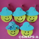 Mini Junior Smiles w/Bucket Hat  SWAPS Kit for Girl Kids Scout makes 25