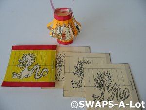 Mini Chinese/Japanese Paper Lantern China Japan Thinking Day SWAPS Kit for Girl Kids Scout makes 25