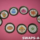 Mini Aliens-n-Bottle Caps SWAPS Kit for Girl Kids Scout makes 25