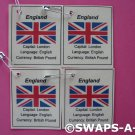 Mini United Kingdom: Flag, Capital SWAPS Kit for Girl Kids Scout makes 25