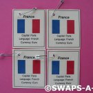 Mini France: Flag, Capital Thinking Day SWAPS Kit for Girl Kids Scout makes 25