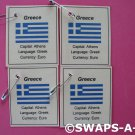 Mini Greece: Flag, Capital SWAPS Kit for Girl Kids Scout makes 25