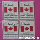 Mini Canada: Flag, Capital Thinking Day SWAPS Kit for Girl Kids Scout makes 25