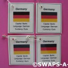 Mini Germany: Flag, Capital SWAPS Kit for Girl Kids Scout makes 25