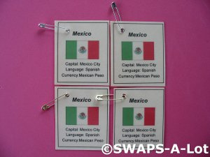 Mini Mexico: Flag, Capital SWAPS Kit for Girl Kids Scout makes 25