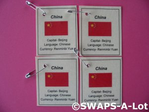 Mini China: Flag, Capital SWAPS Kit for Girl Kids Scout makes 25