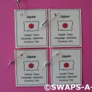Mini Japan: Flag, Capital SWAPS Kit for Girl Kids Scout makes 25