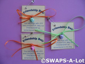 Mini Friendship Bell SWAPS Kit for Girl Kids Scout makes 25