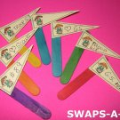 Mini Junior Flag Pennant SWAPS Kit for Girl Kids Scout makes 25