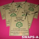 Mini 100th Anniversary Laminated Trade Cards SWAPS Kit for Girl Kids Scout makes 25