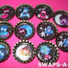 Mini Aliens & Space Ship-n-Bottle Caps SWAPS Kit for Girl Kids Scout makes 25