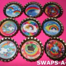 Mini Clouds & Rainbows-n-Bottle Caps SWAPS Kit for Girl Kids Scout makes 25