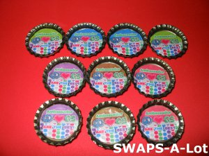 Mini Ambassador GS Are The Best Bottle Caps SWAPS Kit for Girl Kids Scout makes 25