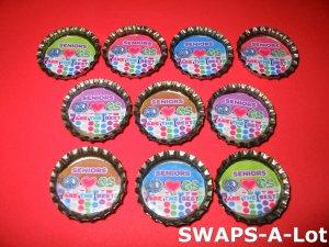 Mini Senior GS Are The Best Bottle Caps SWAPS Kit for Girl Kids Scout makes 25