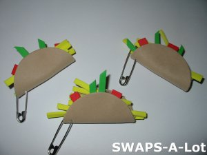 Mini Taco Mexico Thinking Day SWAPS Kit for Girl Kids Scout makes 25