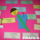 Mini Custom Simple SWAPS Tags for Girl Kids Scout makes 30