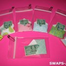 Mini Cancelled 3¢ GS Stamp~Mini Envelope SWAPS Kit for Girl Kids Scout makes 25