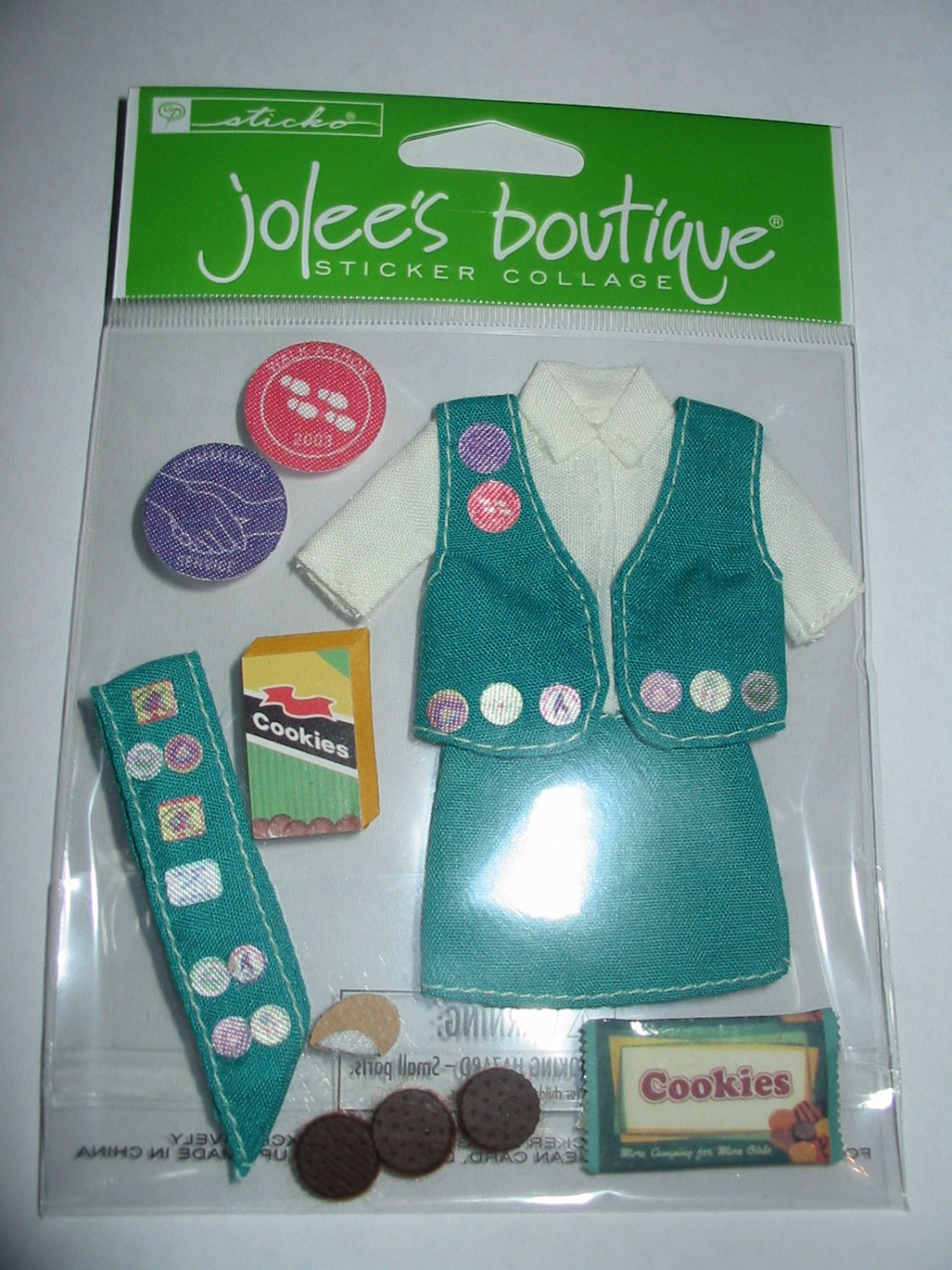 Girl Scout Scrapbook Sticker Jolee's Boutique Retired Her Scouting