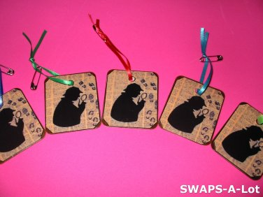 Mini Sherlock I Spy on Decoupage SWAPS Kit for Girl Kids Scout makes 12