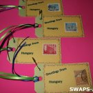 Mini Greetings From Hungary Stamps Thinking Day SWAPS Kit for Girl Kids Scout makes 25